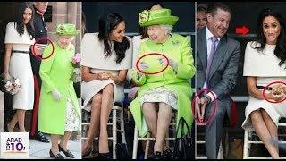 خبراء لغة الجسد يكشفون ما كان تخطط له ميغان ماركل و الملكة إليزابيث في اول لقاء لهم