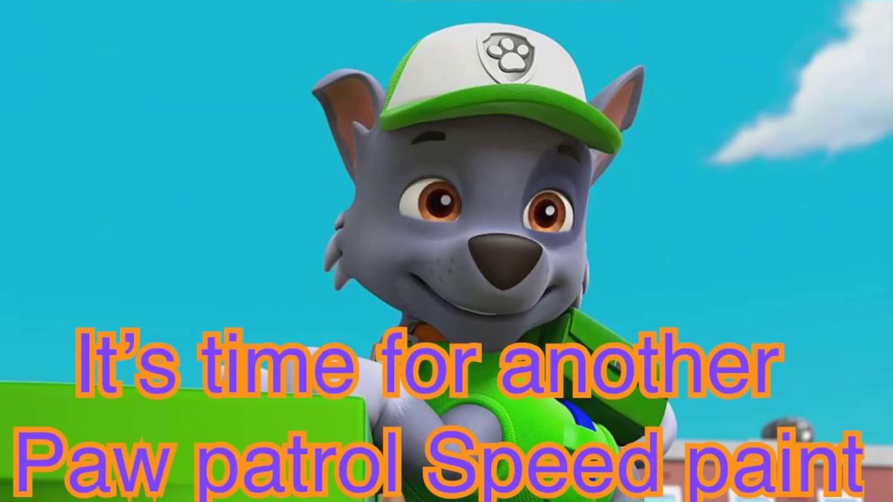 paw patrol speed paint  youtube