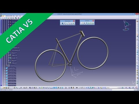 Bicycle Frame - Quick & Dirty - Catia v5 GSD Training
