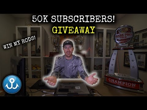 50k Giveaway! Win my CUSTOM pro fishing rods + more. — Thank you!