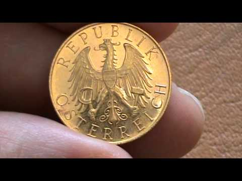Gold coin 25 schilling Austria 1929