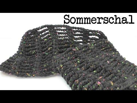 Sommer Schal mit Luftmaschen Ketten ganz leicht & schnell gemacht – super luftig