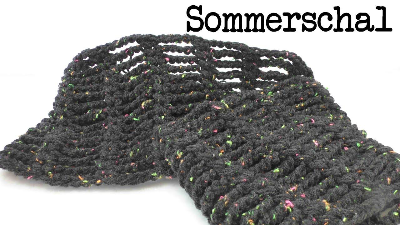 Sommer Schal mit Luftmaschen Ketten ganz leicht & schnell gemacht ...