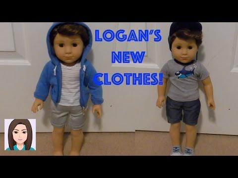 American Boy Doll Logan Everett Tries On New My Life Boy Outfits!