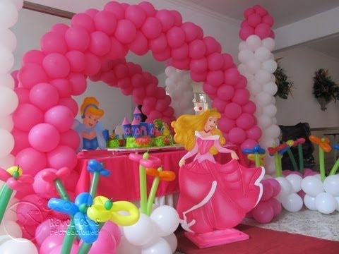 Theme party decoration sleeping beauty princess aurora for Decoration ideas 7th birthday party
