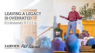 Fairview Mennonite church Sunday Service: Sunday, April 18th, 2021 - Phil Schrock