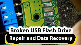 Broken USB flash drive repair and data recovery - Scandisk 128GB