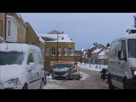 Snowy Shilbottle to Alnwick Dash Cam, 1st March 2018