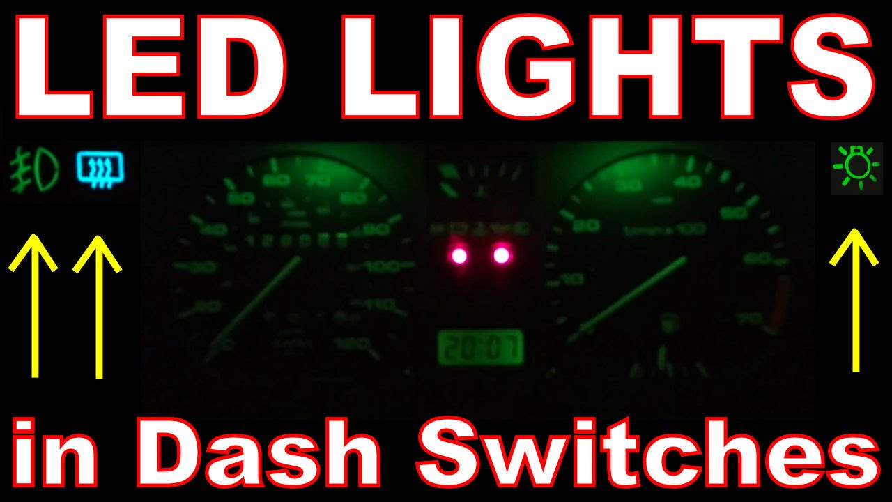 How to Install LED lights in Car. LED Dashboard Switches. VW Golf ...