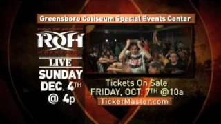 ROH Wrestling in Greensboro, NC on 12/4/11 - Tickets on Sale 10/7!