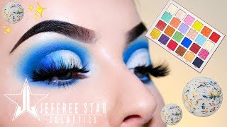 Jeffree Star Jawbreaker Palette Tutorial 💙Blue Cut Crease