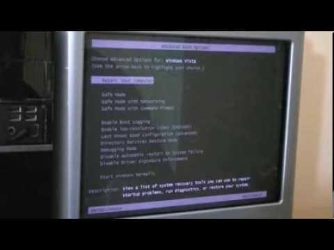 Reinstalling Windows Vista