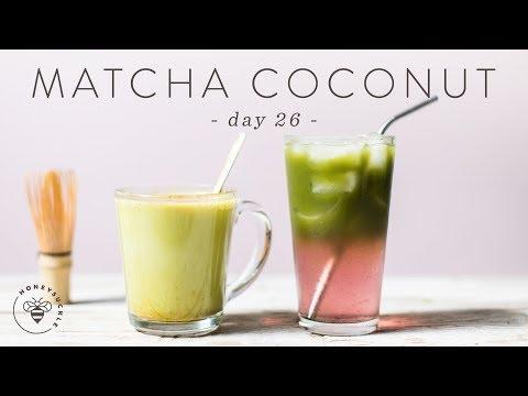 2 Incredible MATCHA + COCONUT Drinks 🐝 DAY 26