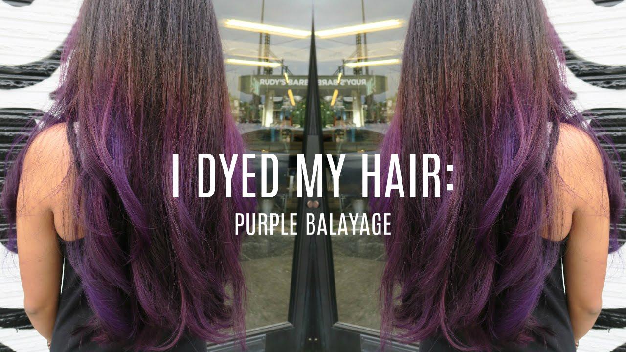 I Dyed My Hair Purple Balayage