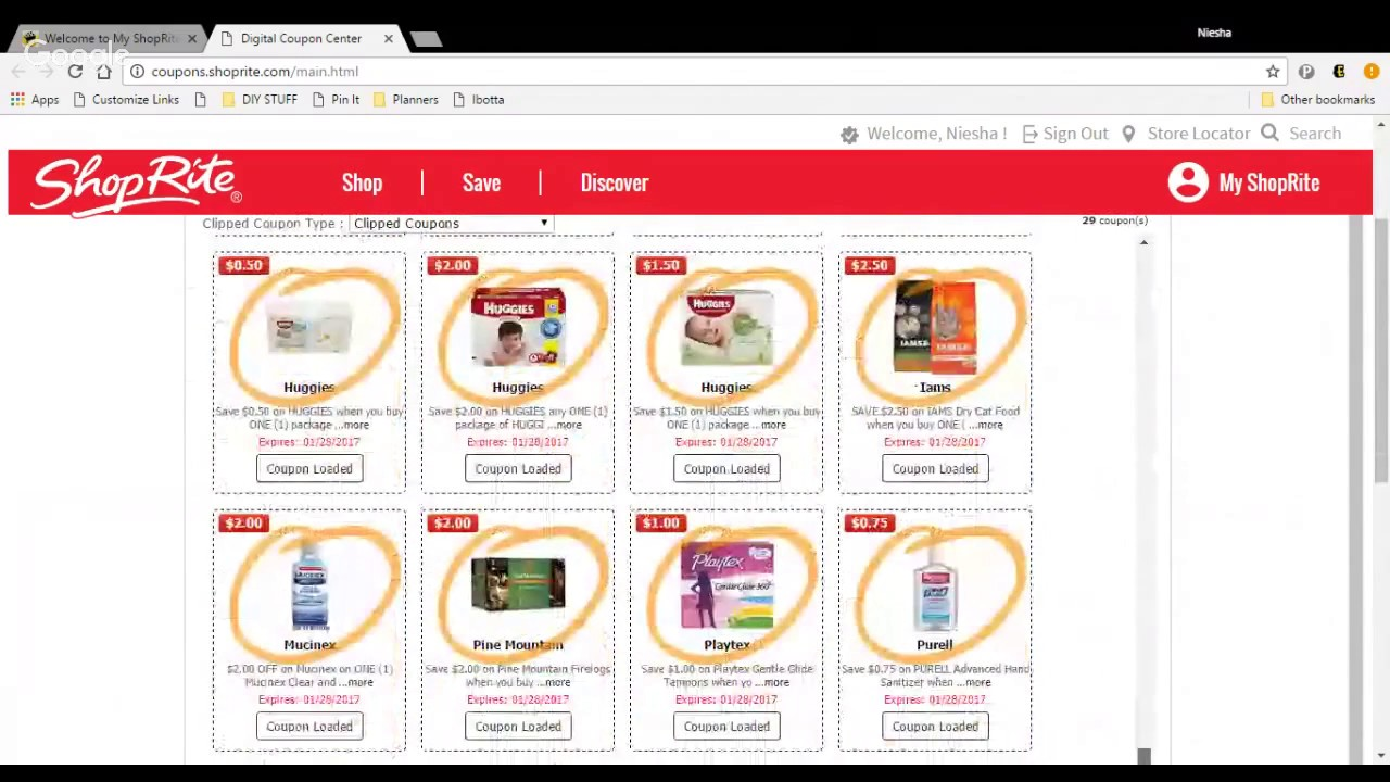 Shoprite Digital Coupon App