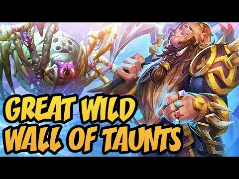 Hearthstone: Great Wild Wall Of Taunts