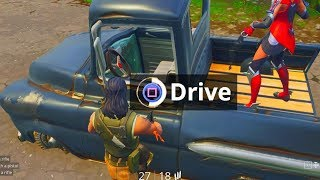 Default Skin Hacker can drive ANY vehicle on Fortnite...