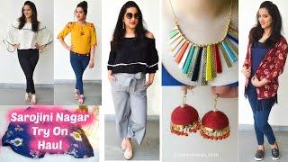 Sarojini Nagar Try On Haul | Indian Street Shopping | Perkymegs