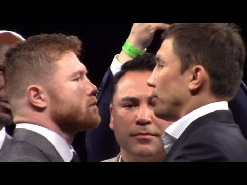Thumbnail: CANELO VS. GOLOVKIN FIRST OFFICIAL FACE OFF; INTENSE STAREDOWN