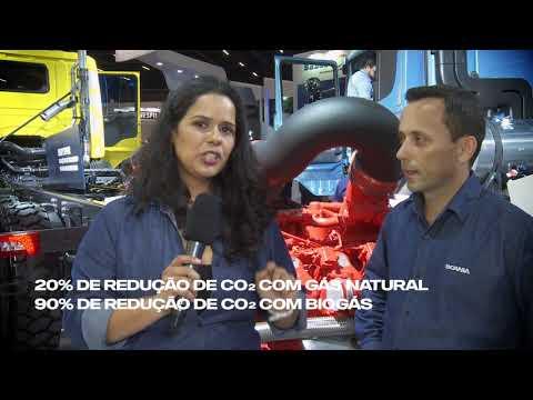 ENTREVISTA 9 #SCANIA NA FENATRAN - MOTOR V8 MOVIDO A GÁS