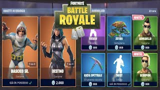 FORTNITE 'SHOP' 28/08 NUOVA SKIN SCORPION/ARMADILLO - BIASCICO SR. - DESTINO