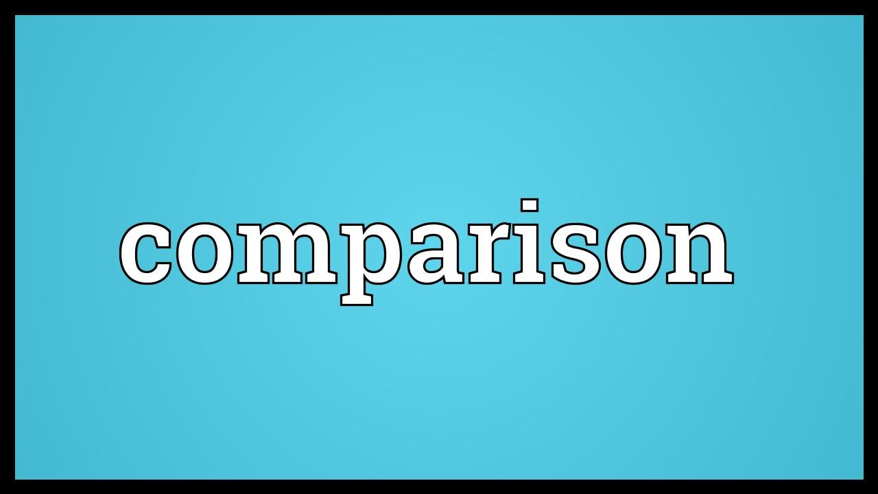 Comparison Meaning - YouTube