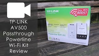 TP-LINK AV500 Passthrough Powerline WiFi Kit Review