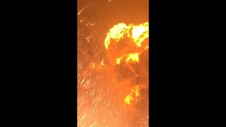 Explosion at the gas station in China