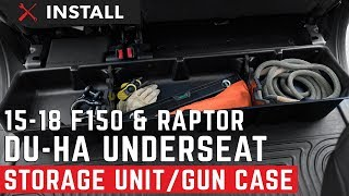 2015-2018 F150 and Raptor SuperCrew DU HA Underseat Storage Unit Gun Case Install