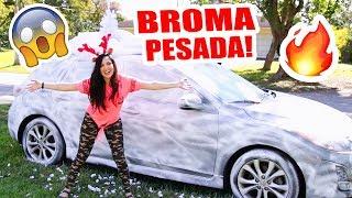 LLENO DE NIEVE EL AUTO DE MI HERMANO EN MIAMI! BROMA ÉPICA Navidad I Christmas PRANK SandraCiresArt thumbnail