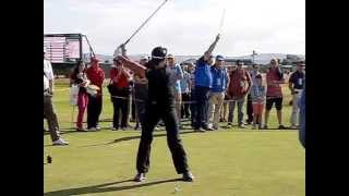 Jason Day Golf Swing (long-iron) Face-on View, July 2014
