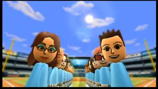 Wii Sports Baseball 3 Player Co Op w/commentary