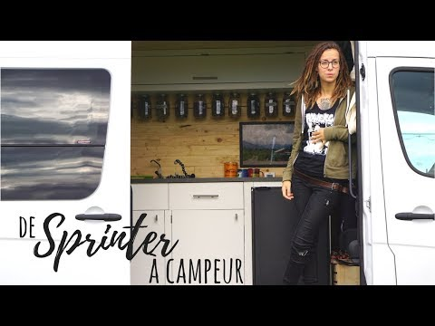 SPRINTER AMÉNAGÉ CAMPEUR 4 SAISONS - De van cargo à mini-maison sur roues - VANLIFE Canada