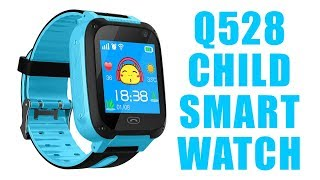 kids smart watch q528 with GPS tracking I SOS Function I Camera I Wechat
