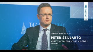 WSF2018 | #ThreeQuestionsFor: Péter Szijjártó - Minister of Foreign Affairs and Trade, Hungary