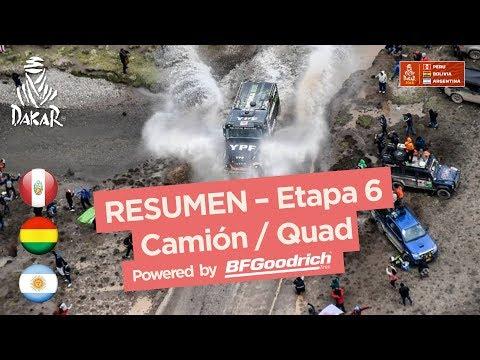 Resumen - Camiones/Cuadriciclos/SxS - Etapa 6 (Arequipa / La Paz) - Dakar 2018