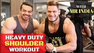Gambar cover COMPLETE SHOULDER WORKOUT | MR INDIA PHYSIQUE | INSANE PUMP