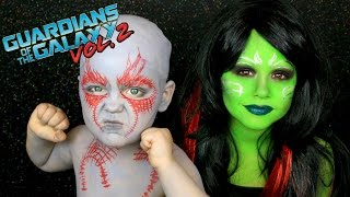 Guardians of the Galaxy Vol. 2 Gamora and Drax Makeup Tutorial