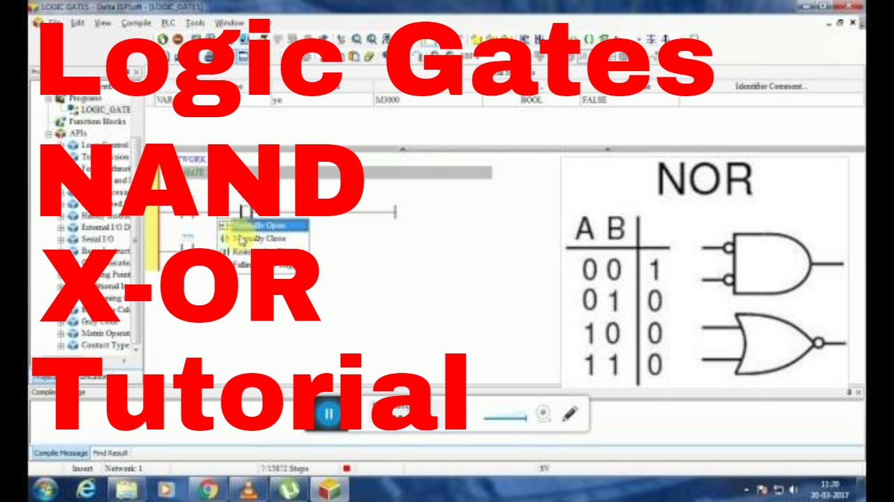 Logic Gates On ISPSoft (Delta PLC)