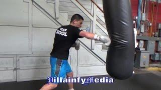 DMITRY BIVOL RIPPS THE HEAVYBAG; DEFENDS INTERIM WBA 175LBS TITLE ON APRIL 14TH