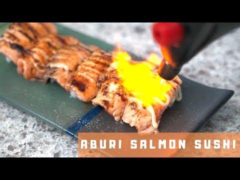 Aburi Salmon Sushi  烤三文魚寿司  *4K *EP2
