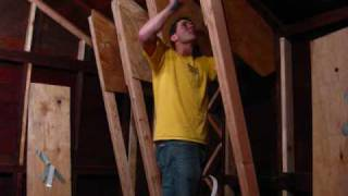 Building A Rock Climbing Wall In The Garage - Part 1 - Wall Junkies -