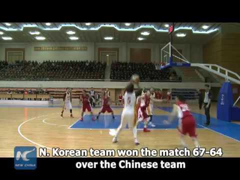 North Korea, China hold women's basketball match