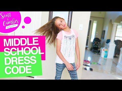 😭😁MIDDLE SCHOOL DRESS CODE... BACK TO SCHOOL FAMILY MEETING!! | Scott and Camber