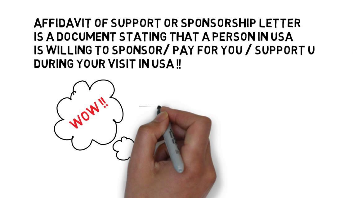 USA VISA SPONSORSHIP LETTER Form I134 USA visa affidavit of – Invitation Letter for US Visa