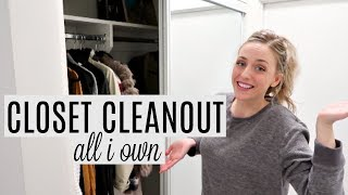 MINIMALIST CLOSET CLEANOUT AND DECLUTTER!