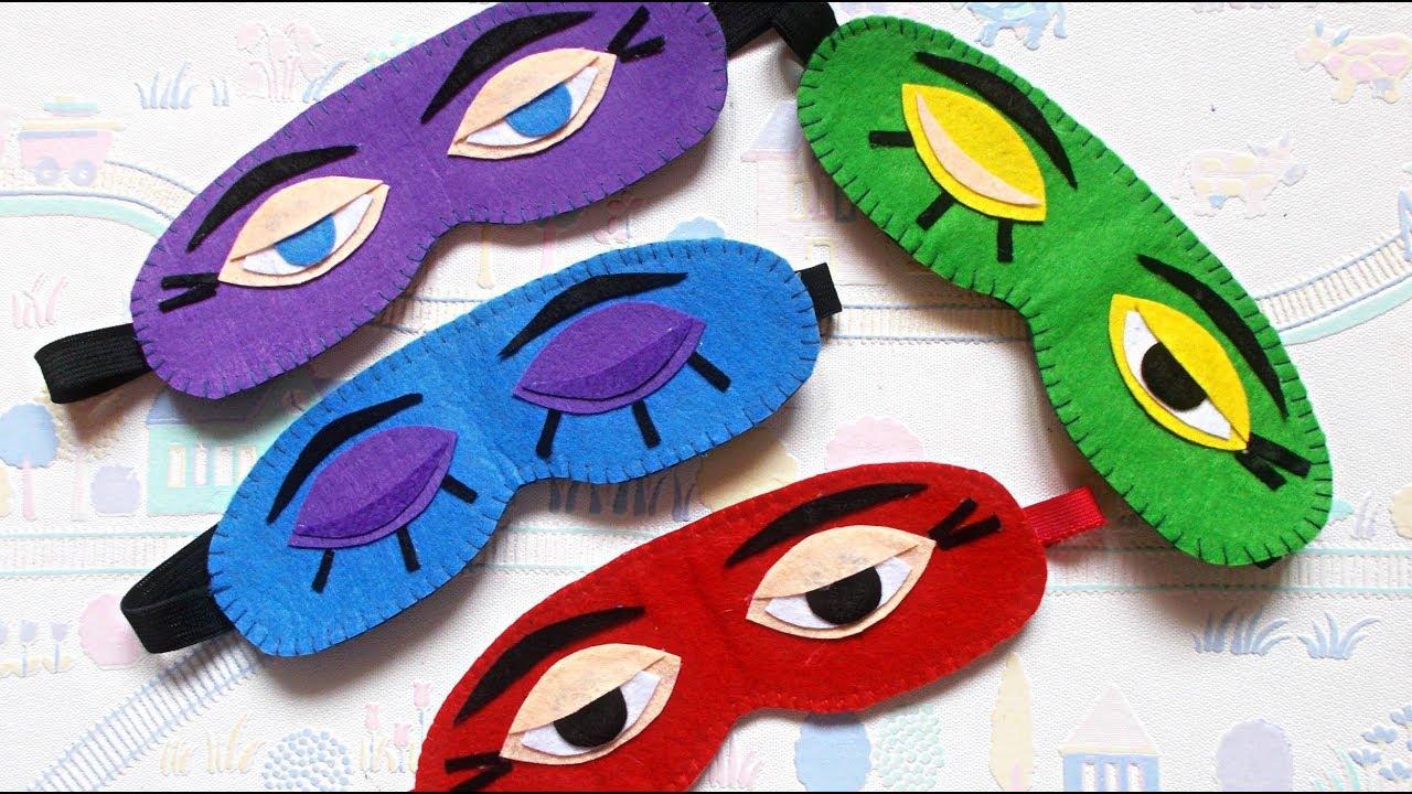 Easy Felt Crafts Diy Sleep Mask How To Make An Eye Mask For Sleeping Maison Zizou