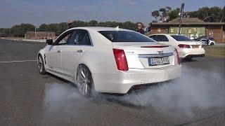 Cadillac CTS-V - BURNOUTS & ACCELERATIONS!