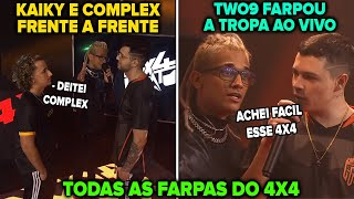 TODAS AS FARPAS DO 4V4 LOS GRANDES VS TROPA - COMPLEX E KAIKY BRIGARAM? TWO9 FARPOU A TROPA AO VIVO!