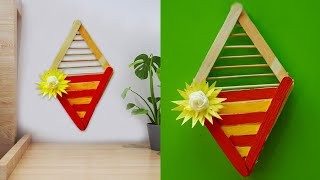 How to decorate wall from icecream stick
